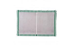 Стенка для садового тента Green Glade 1,95х2,95м полиэстер с москитной сеткой зеленая