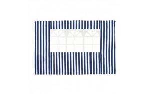 Стенка для садового тента Green Glade 4120 1,95х2,95м полиэстер с окном синяя (20)