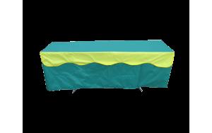 Скатерть на стол 1,8*0,6 с воланом